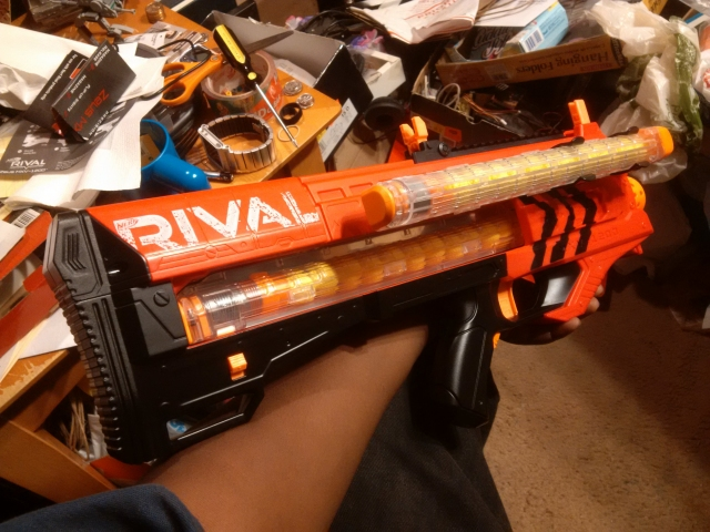 modified nerf rival zeus mxv-1200 with additional magazine